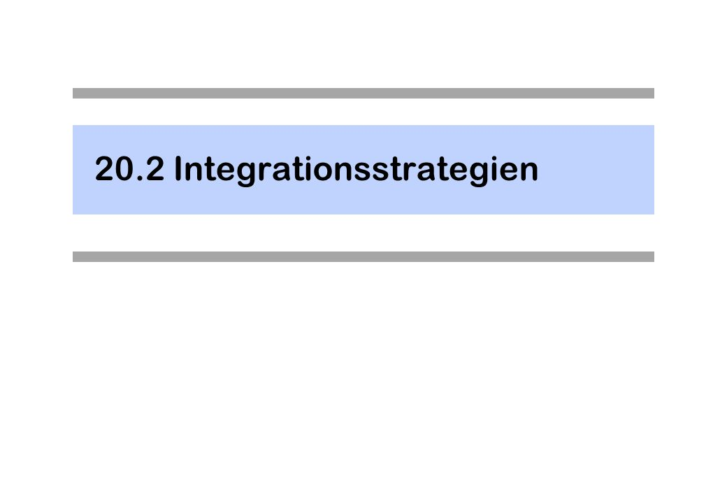 20.2 Integrationsstrategien