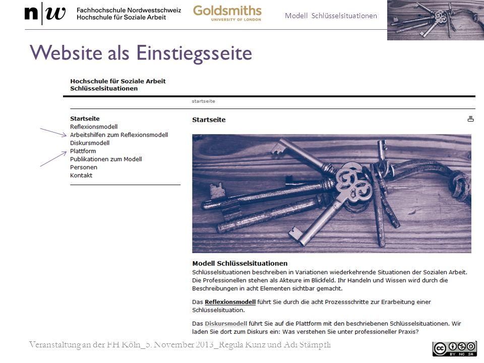 Website als Einstiegsseite