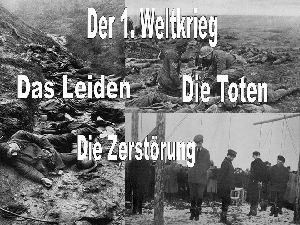 Der 1. Weltkrieg Das Leiden Die Toten Die Zerstörung
