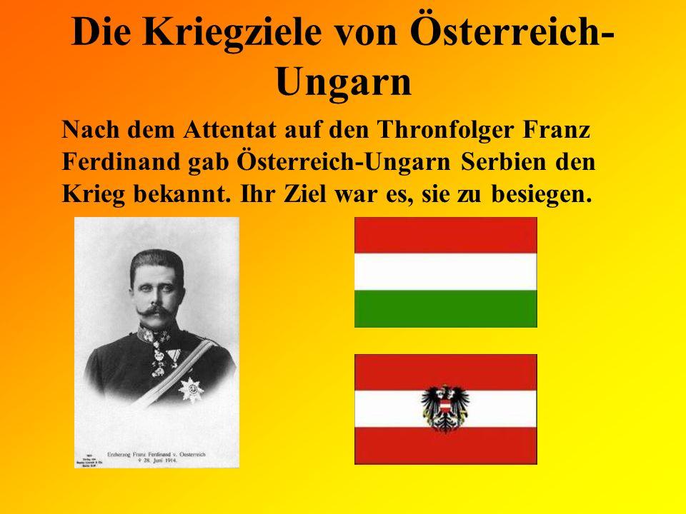Die Kriegziele von Österreich-Ungarn
