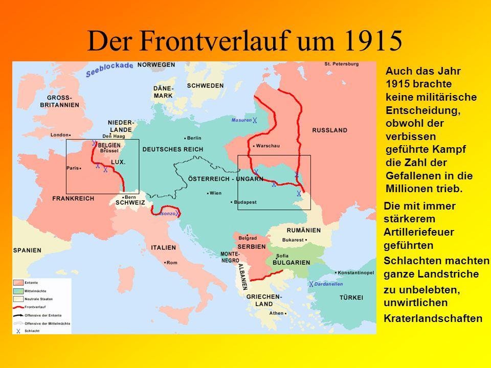 Der Frontverlauf um 1915