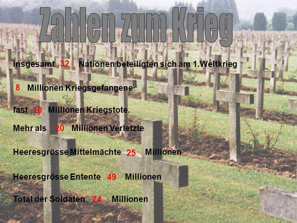 Insgesamt Nationen beteiligten sich am 1.Weltkrieg .