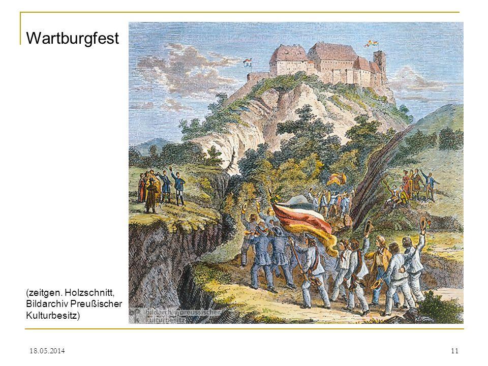 Wartburgfest (zeitgen. Holzschnitt, Bildarchiv Preußischer Kulturbesitz) 31.03.2017