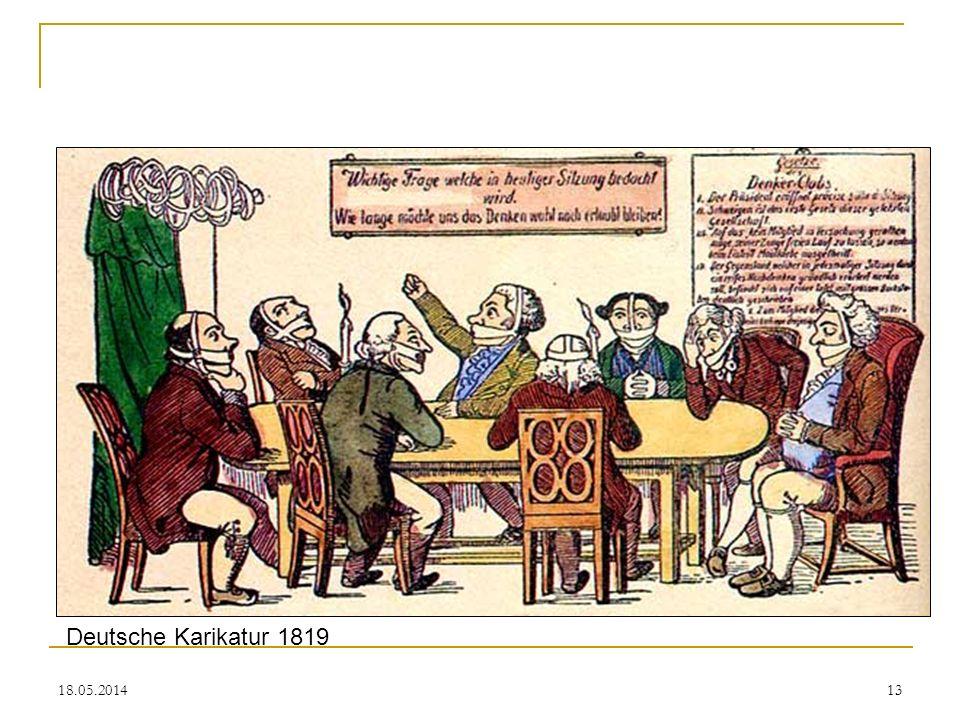 Deutsche Karikatur 1819 31.03.2017