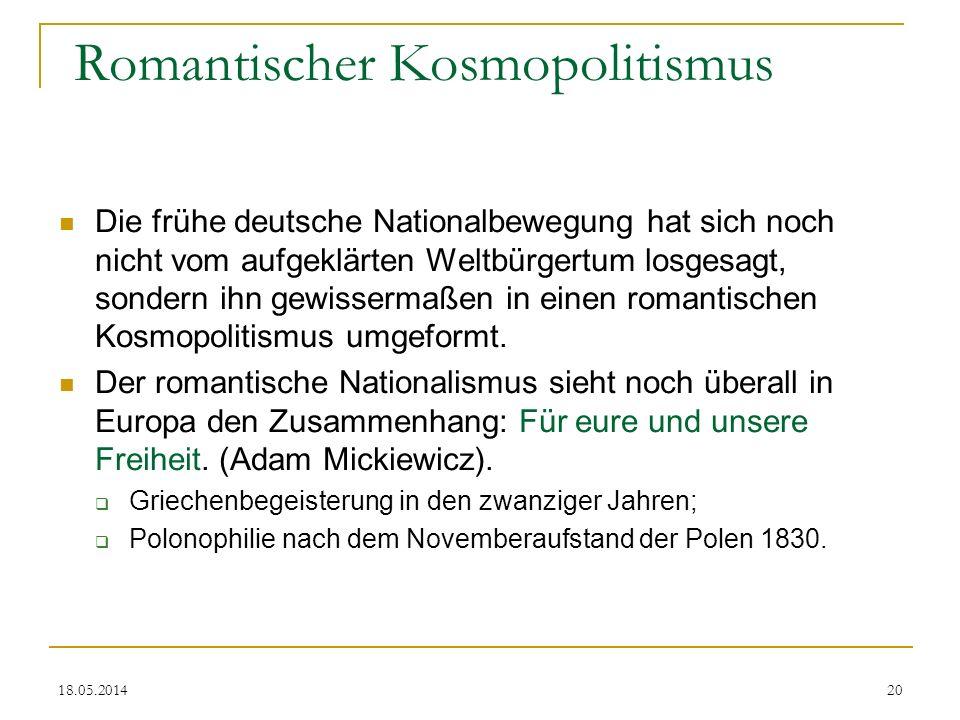 Romantischer Kosmopolitismus