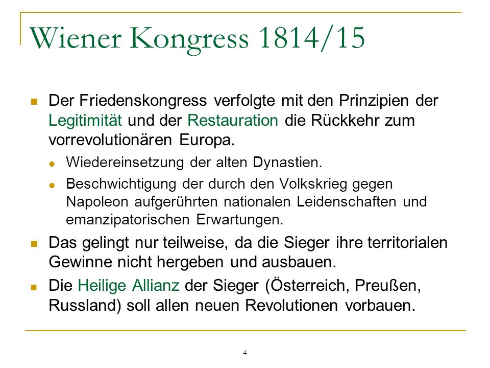 Wiener Kongress 1814/15