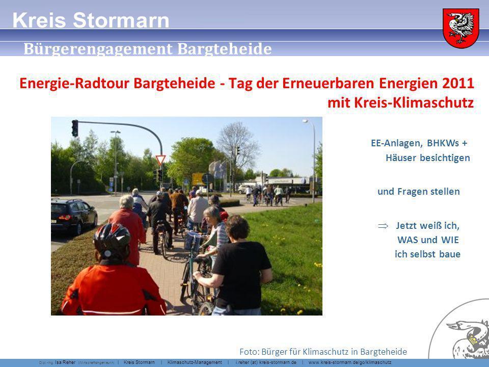 Erleben statt Reden Energie-Radtour Bargteheide - Tag der Erneuerbaren Energien. EE-Anlagen, BHKWs + Häuser besichtigen.