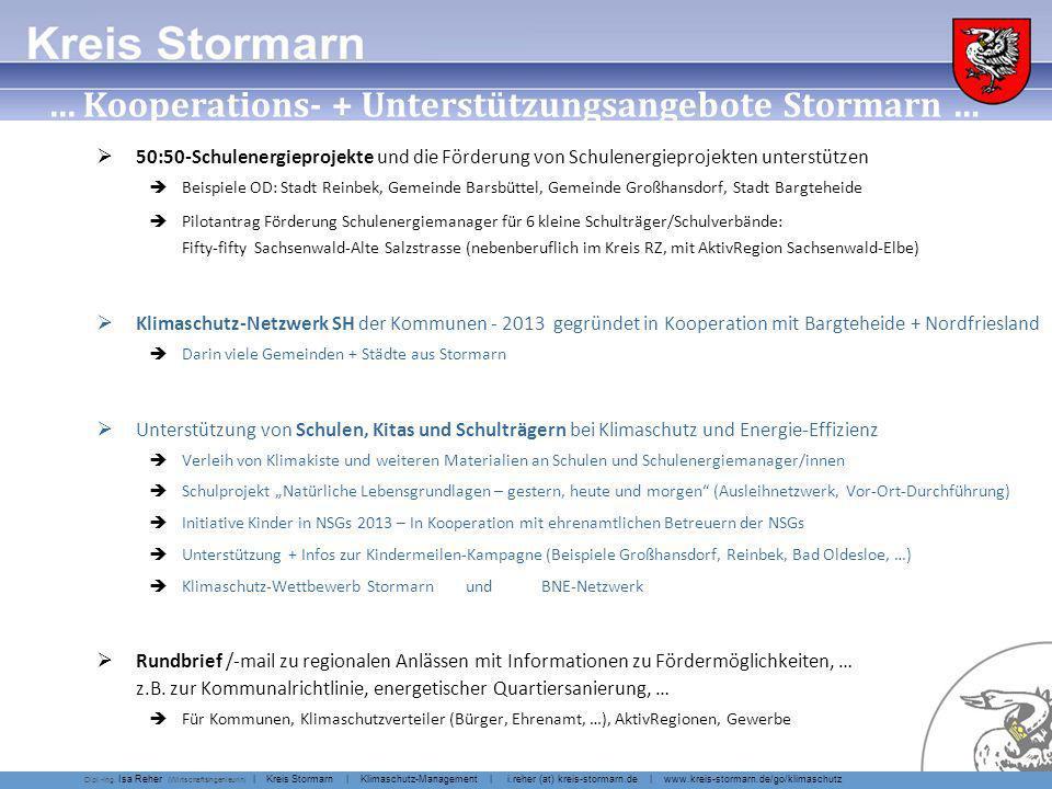 … Kooperations- + Unterstützungsangebote Stormarn