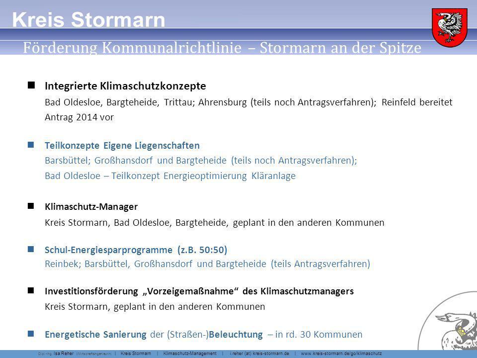Infoseite Kreis Stormarn Klimaschutz für Kommunen