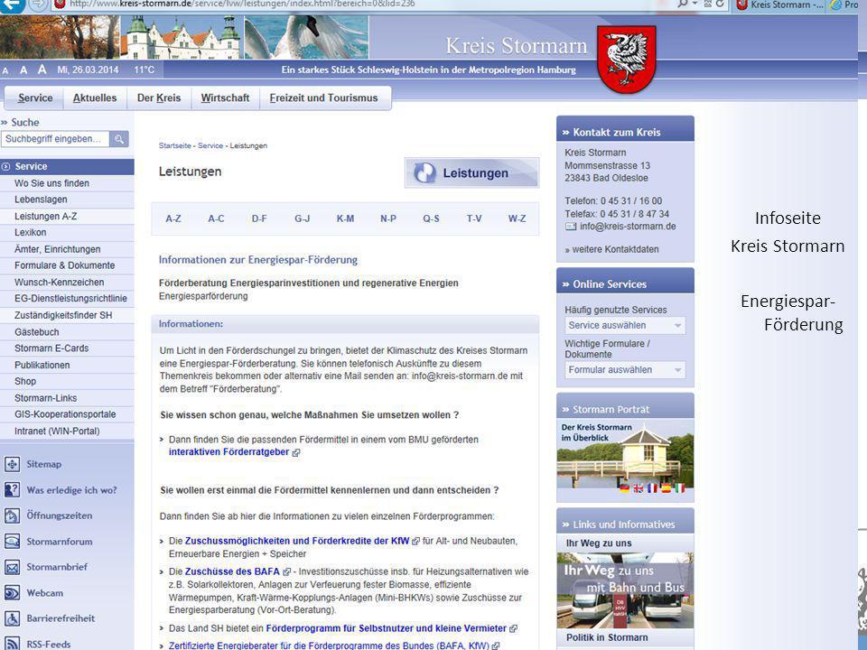Bürgerberatung KfW-Förderung SH 2013 Bereich Wohnen