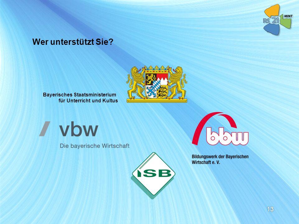Wer unterstützt Sie Bayerisches Staatsministerium für Unterricht und Kultus