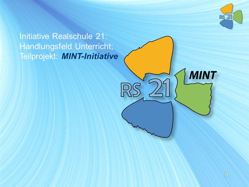 Initiative Realschule 21: Handlungsfeld Unterricht; Teilprojekt: MINT-Initiative