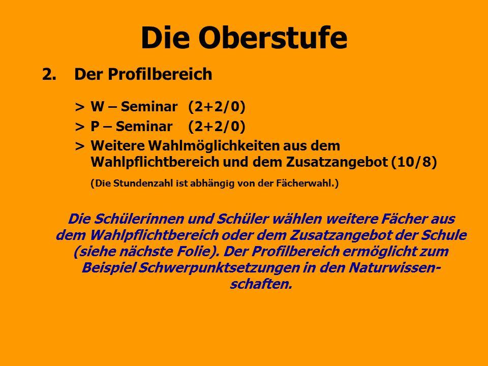 Die Oberstufe Der Profilbereich > W – Seminar (2+2/0)