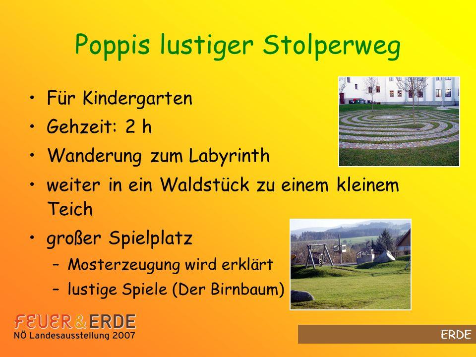 Poppis lustiger Stolperweg