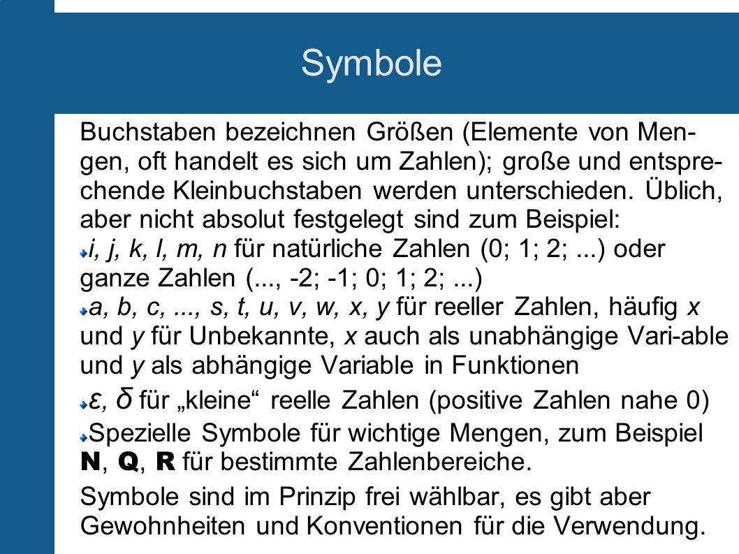 """Symbole ε, δ für """"kleine reelle Zahlen (positive Zahlen nahe 0)"""