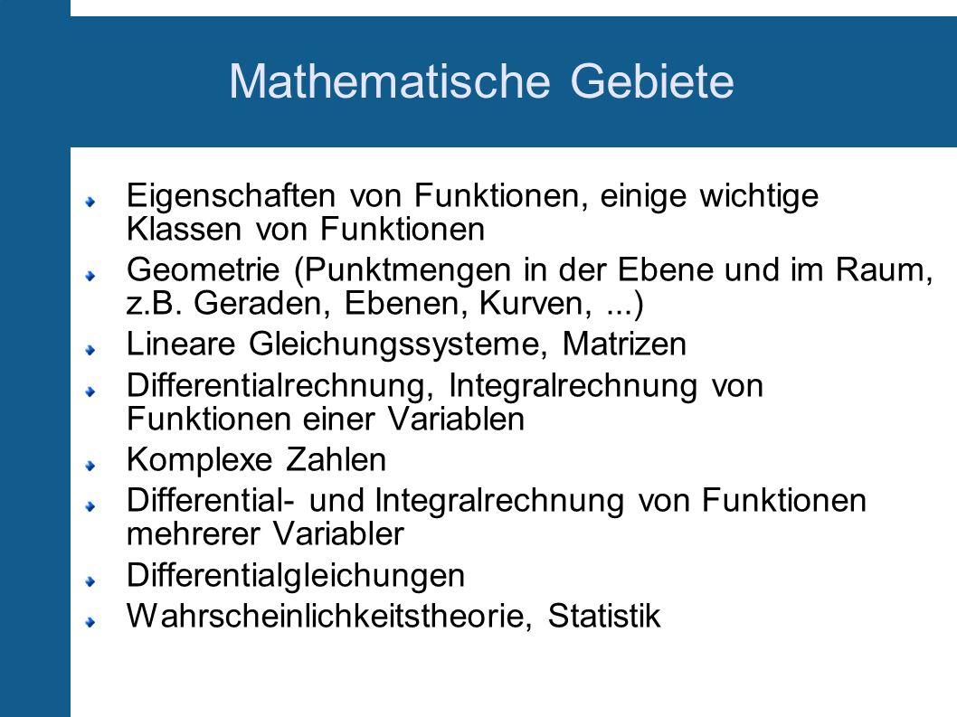 Mathematische Gebiete