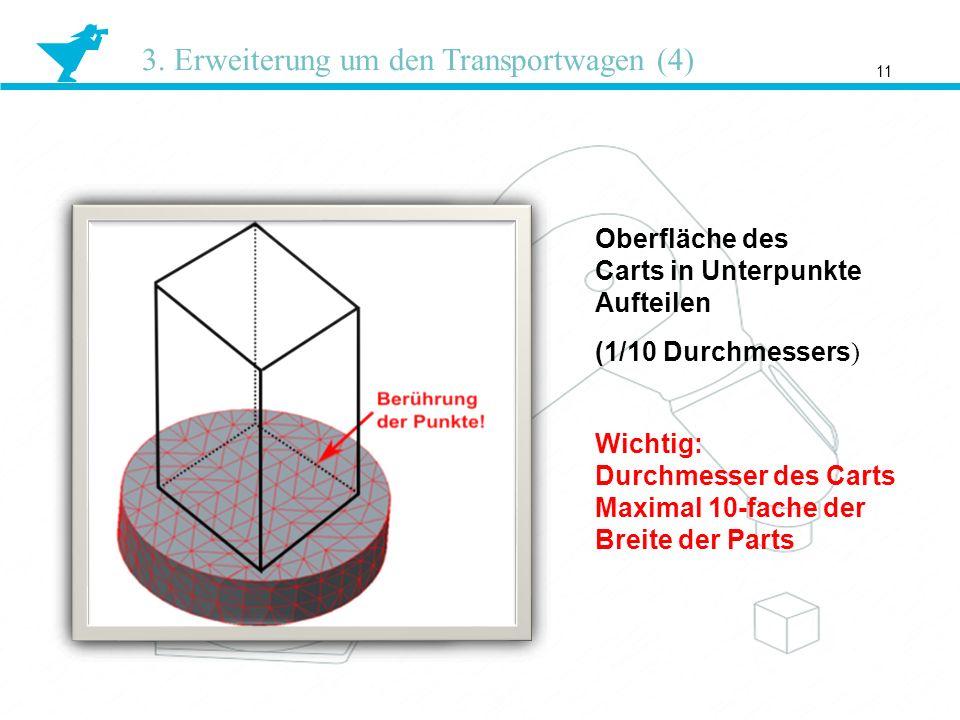 3. Erweiterung um den Transportwagen (4)