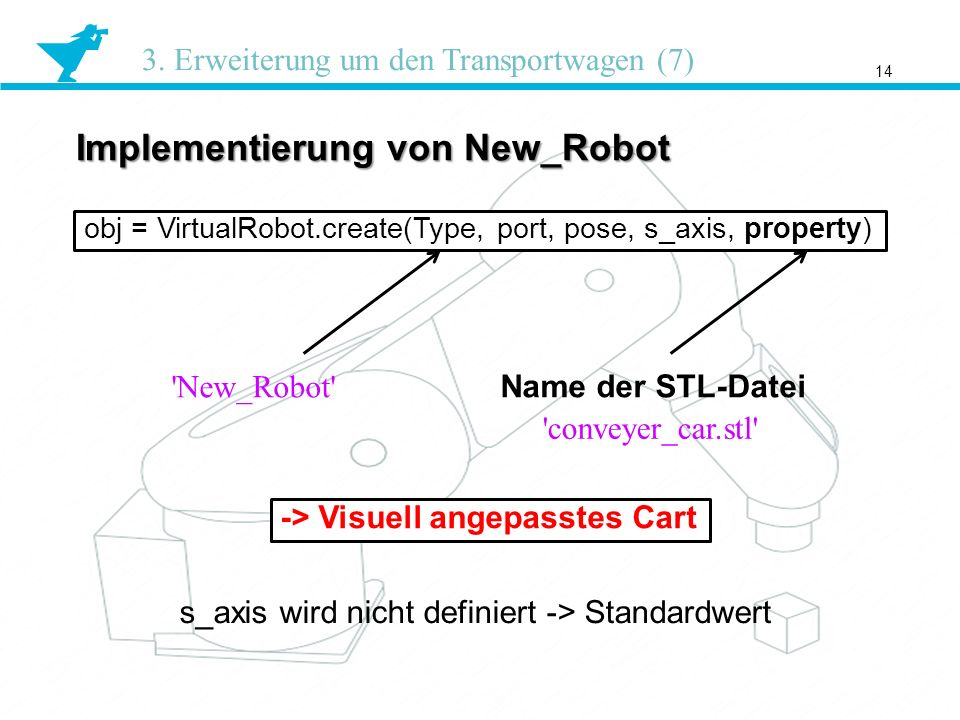 Implementierung von New_Robot