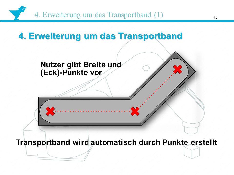 4. Erweiterung um das Transportband