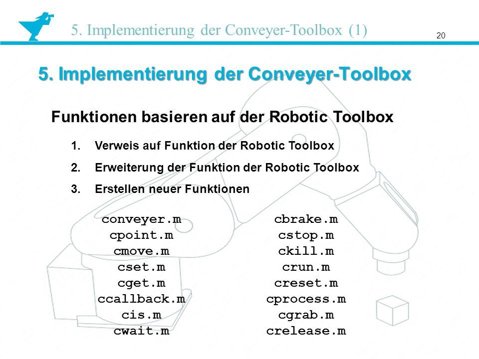 5. Implementierung der Conveyer-Toolbox