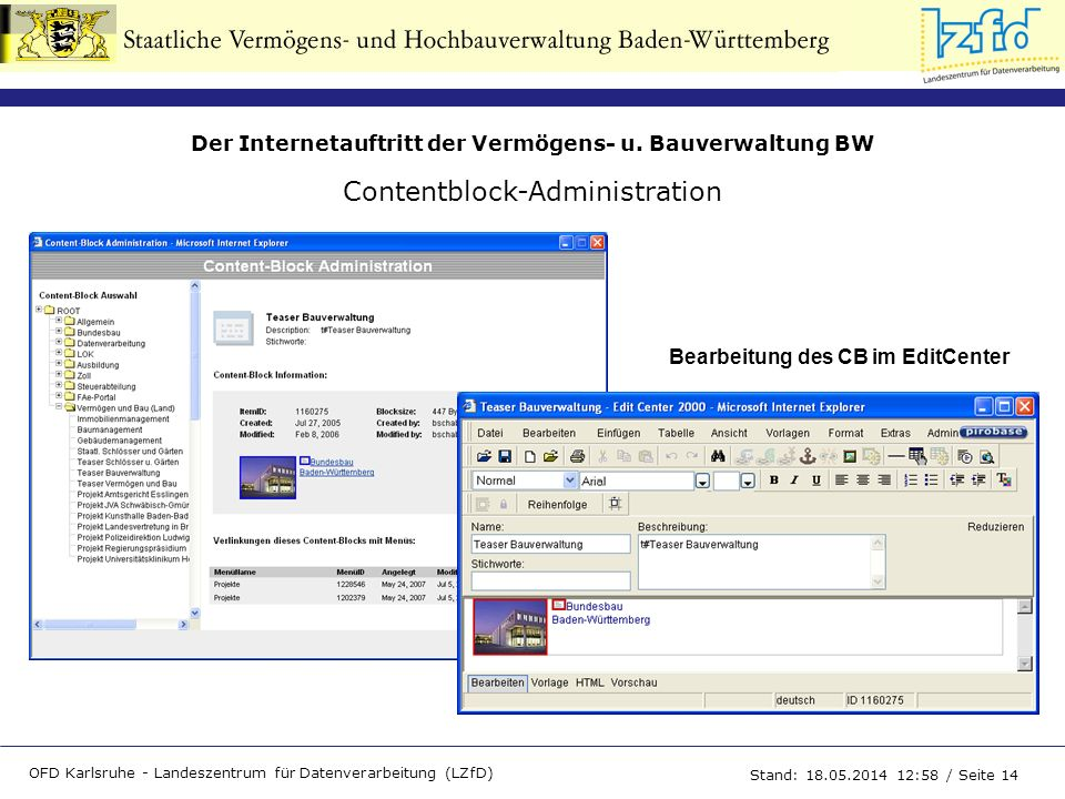 Contentblock-Administration