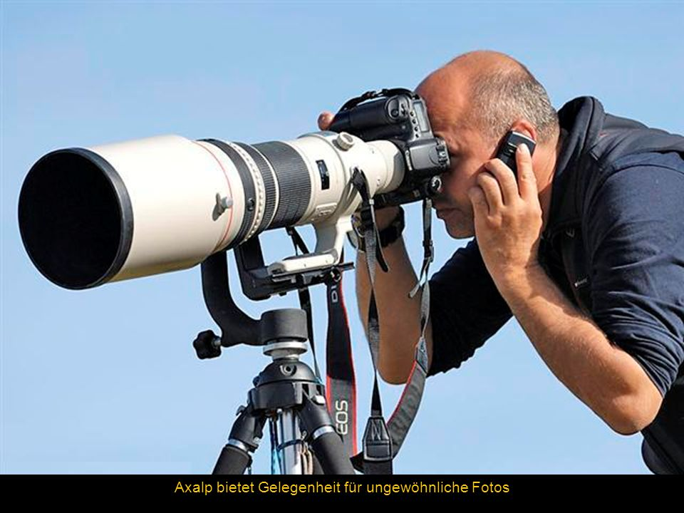 Axalp bietet Gelegenheit für ungewöhnliche Fotos