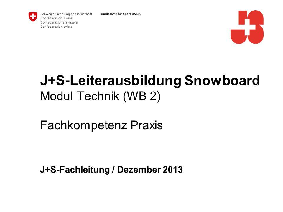 J+S-Fachleitung / Dezember 2013