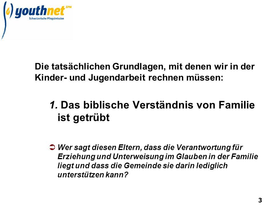 1. Das biblische Verständnis von Familie ist getrübt