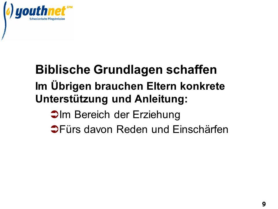 Biblische Grundlagen schaffen