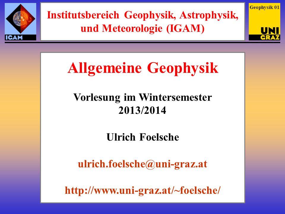 Institutsbereich Geophysik, Astrophysik, und Meteorologie (IGAM)