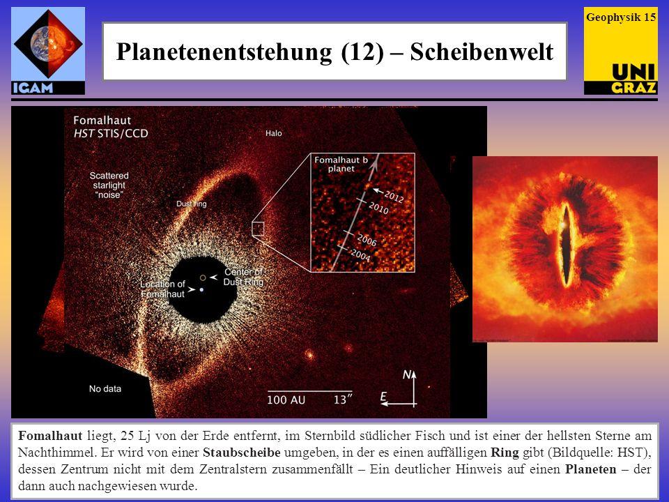 Planetenentstehung (12) – Scheibenwelt