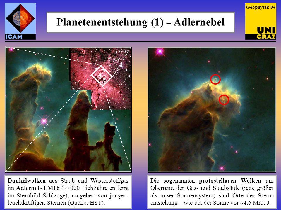 Planetenentstehung (1) – Adlernebel