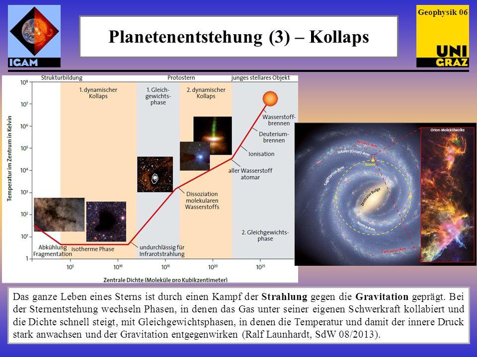 Planetenentstehung (3) – Kollaps