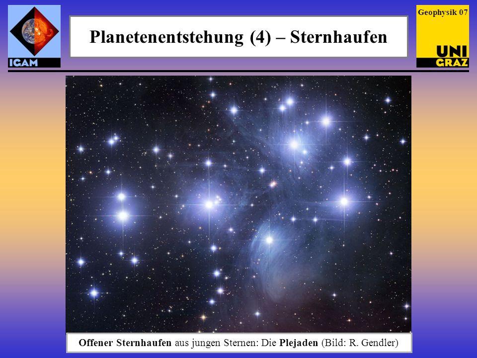 Planetenentstehung (4) – Sternhaufen