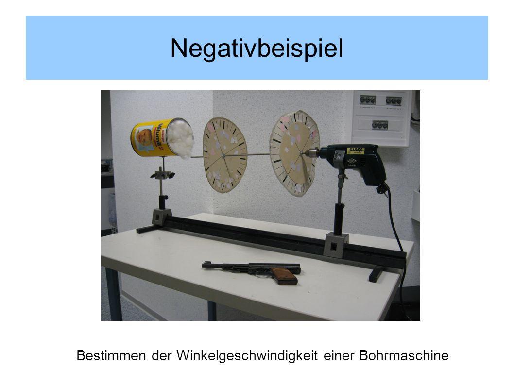 Bestimmen der Winkelgeschwindigkeit einer Bohrmaschine