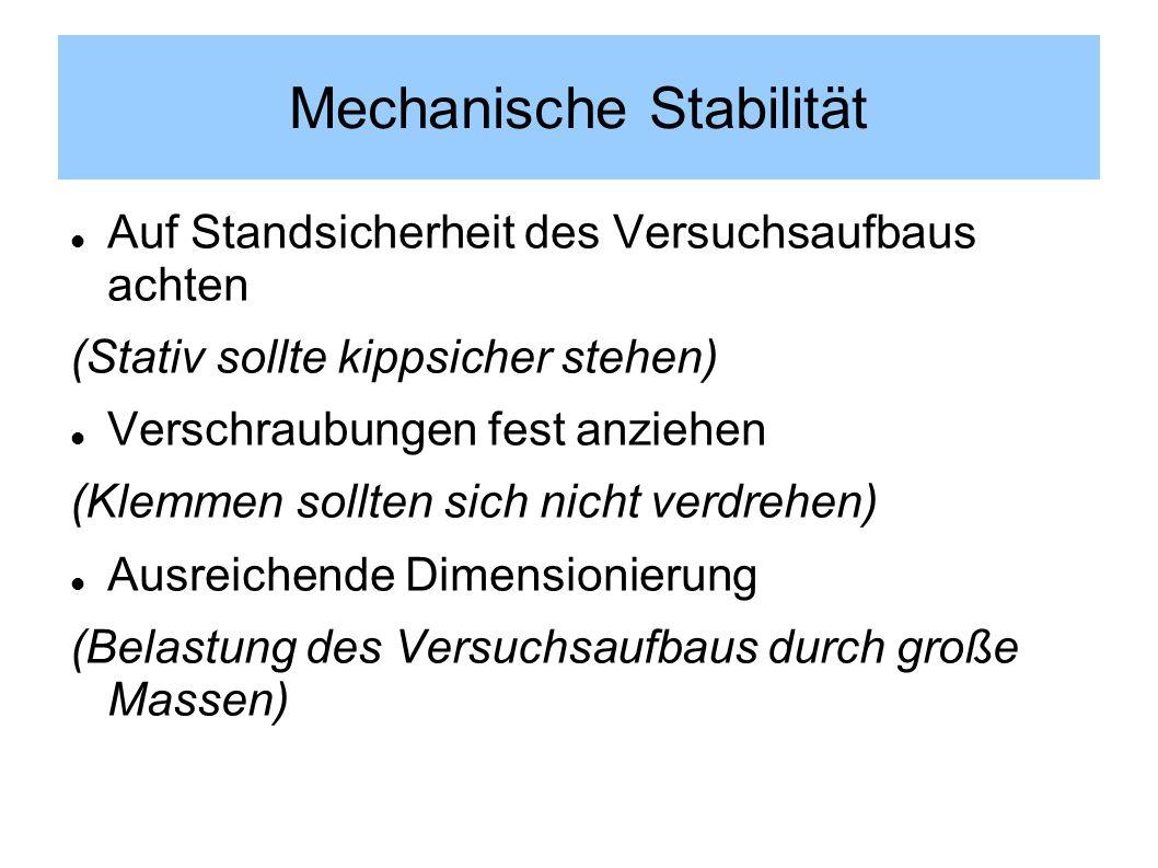Mechanische Stabilität