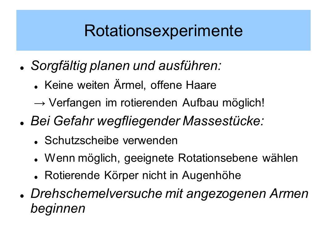 Rotationsexperimente