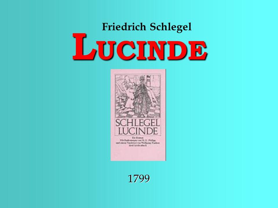 LUCINDE Friedrich Schlegel 1799