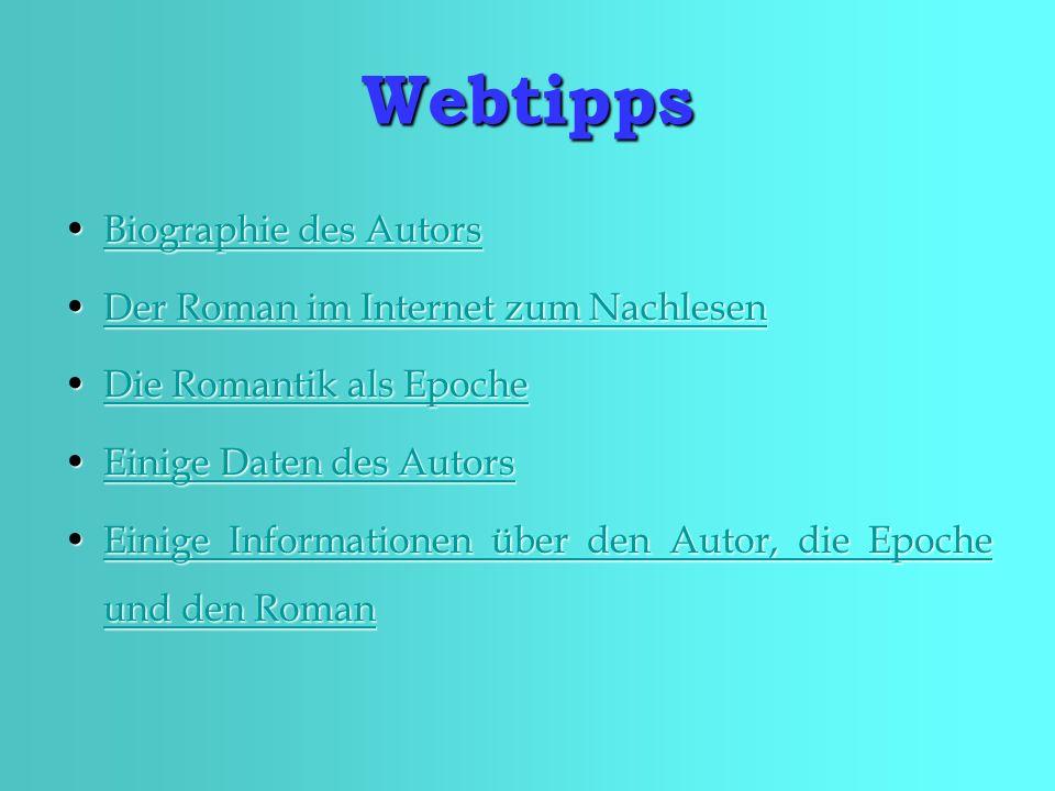 Webtipps Biographie des Autors Der Roman im Internet zum Nachlesen
