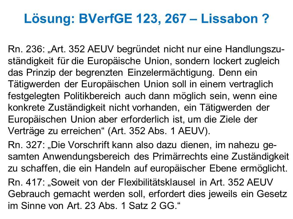 Lösung: BVerfGE 123, 267 – Lissabon