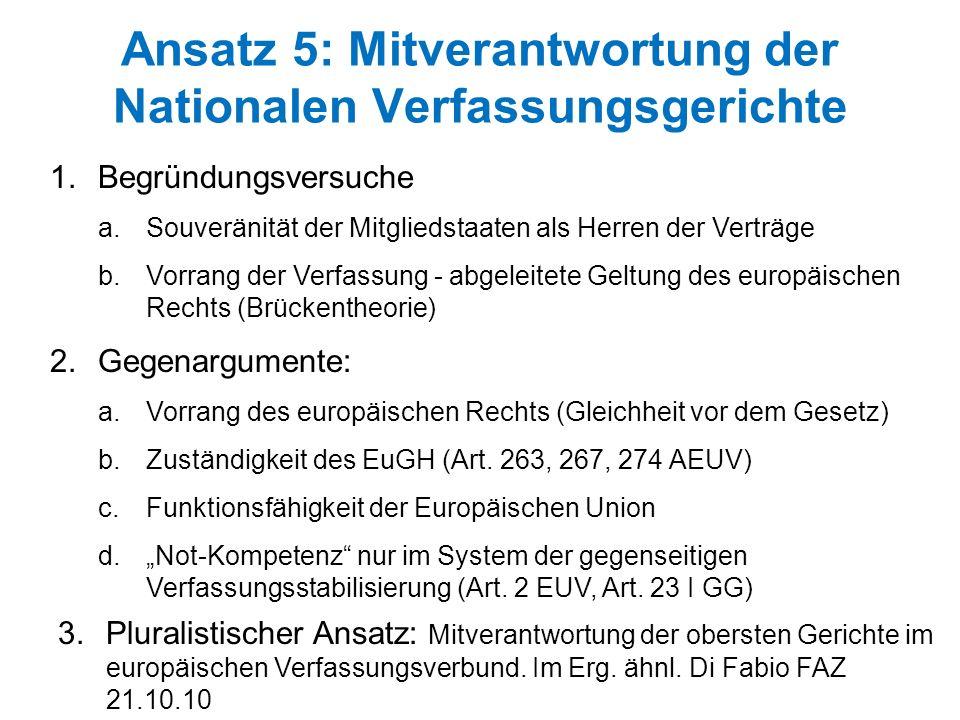 Ansatz 5: Mitverantwortung der Nationalen Verfassungsgerichte