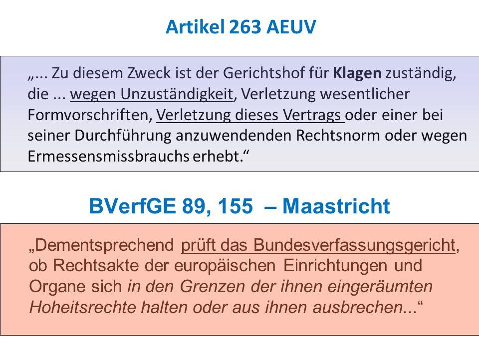 Artikel 263 AEUV BVerfGE 89, 155 – Maastricht
