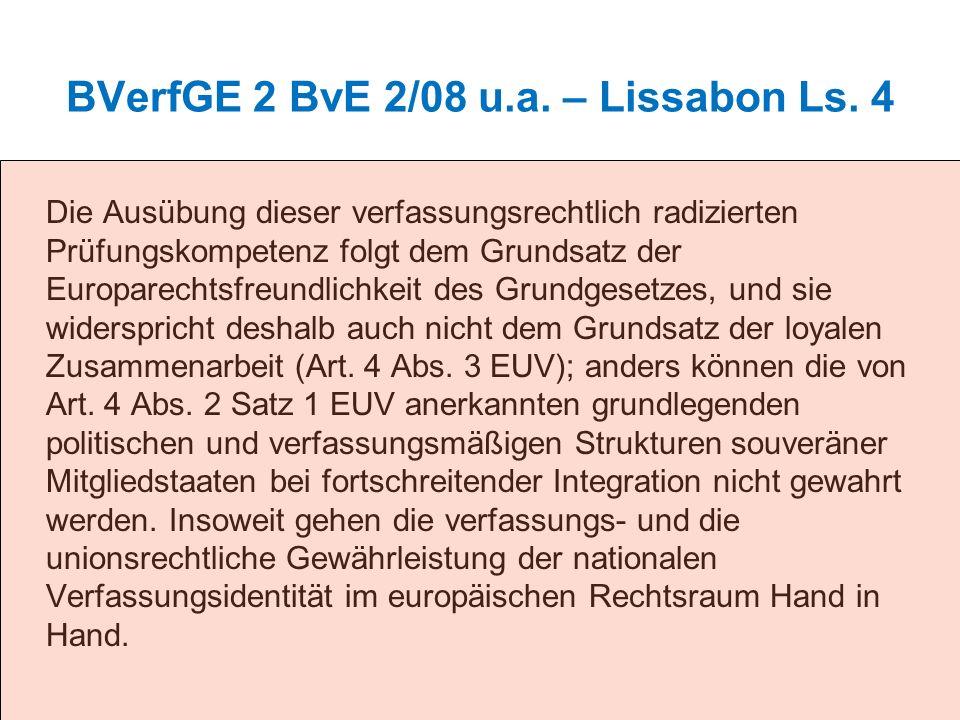 BVerfGE 2 BvE 2/08 u.a. – Lissabon Ls. 4