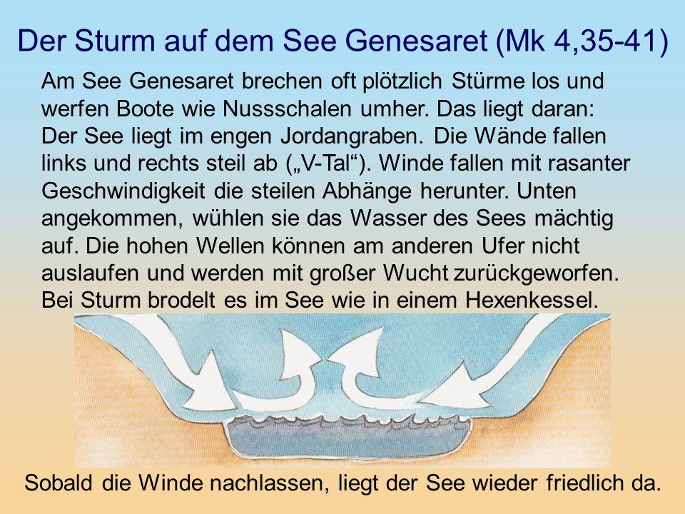 Der Sturm auf dem See Genesaret (Mk 4,35-41)