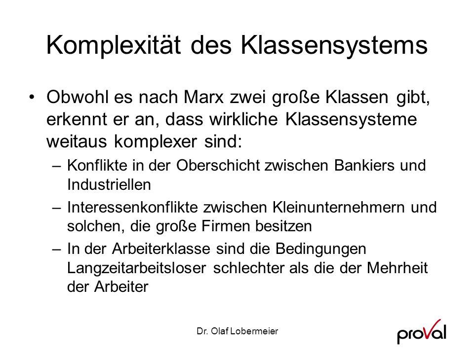 Komplexität des Klassensystems