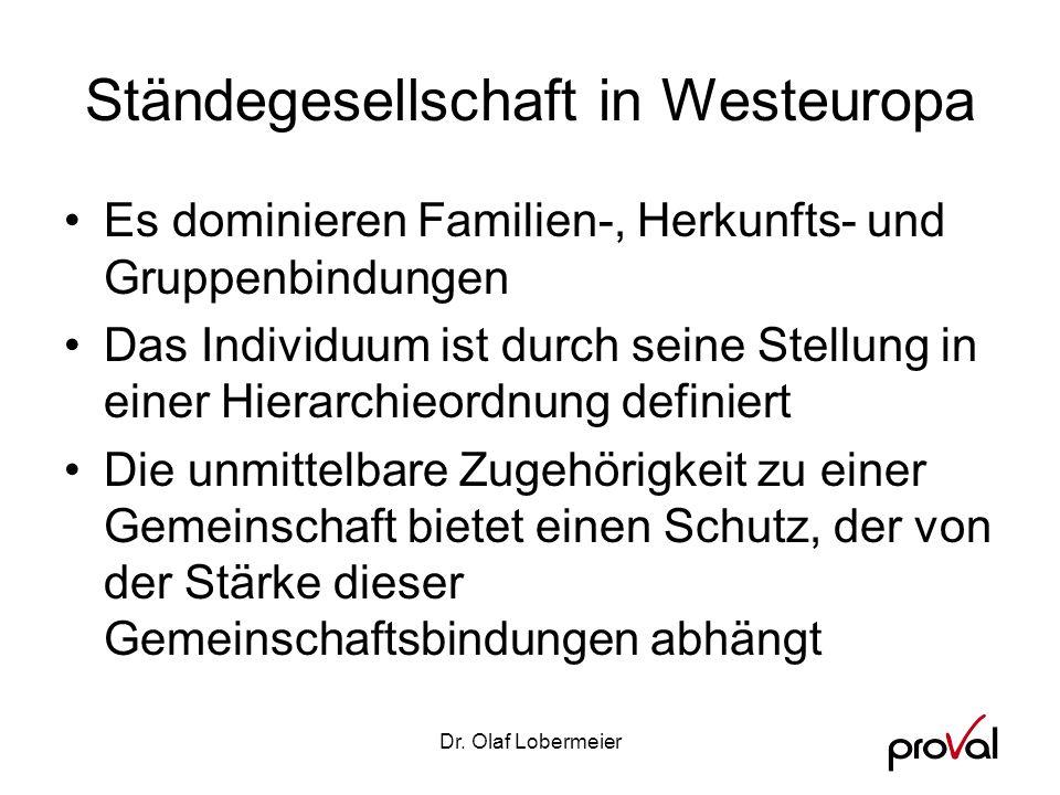 Ständegesellschaft in Westeuropa