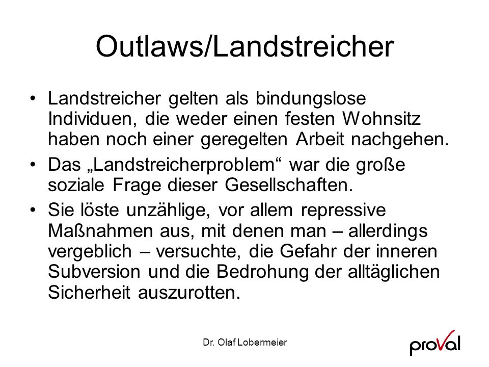 Outlaws/Landstreicher