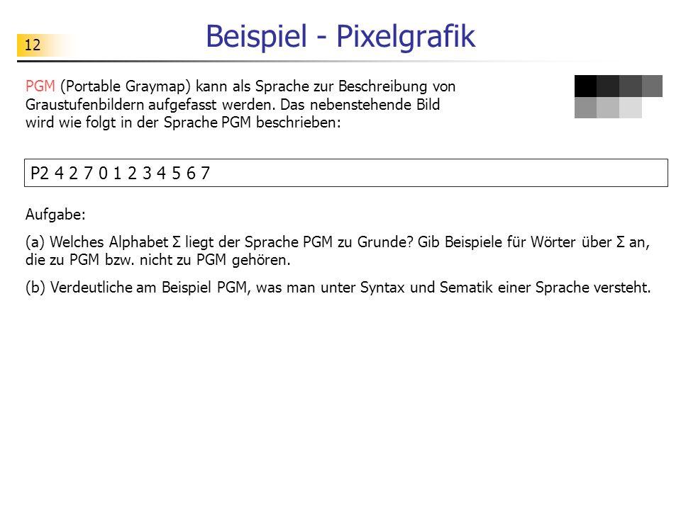 Beispiel - Pixelgrafik