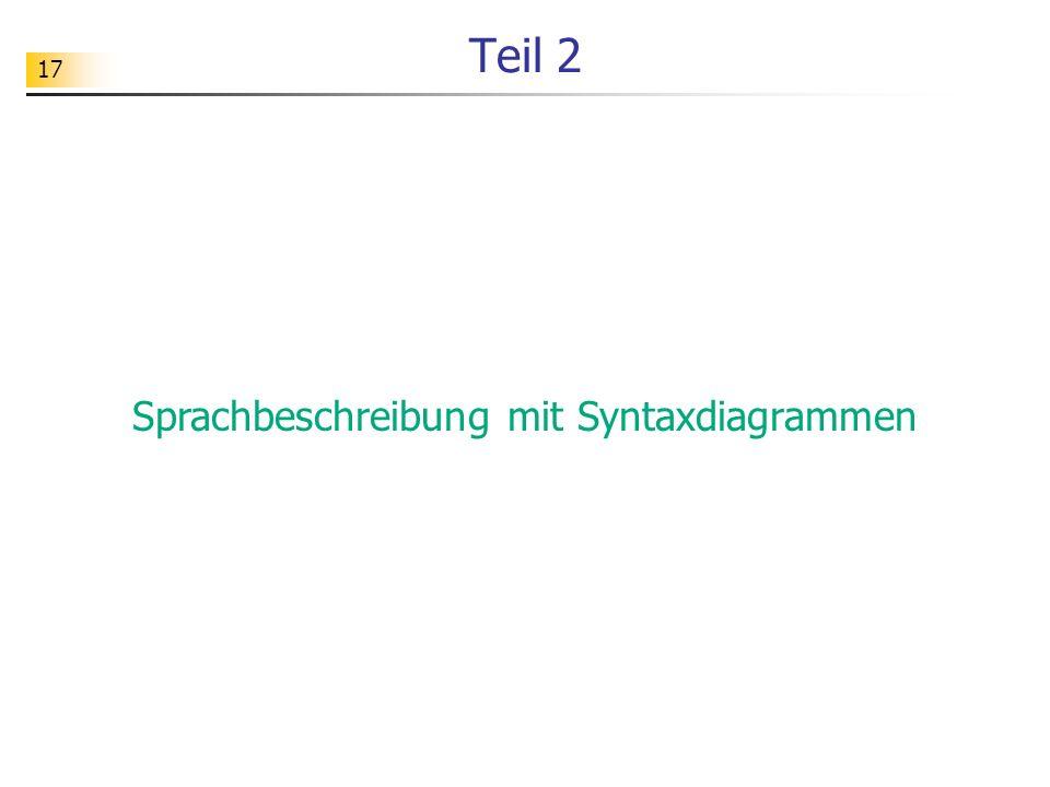 Sprachbeschreibung mit Syntaxdiagrammen