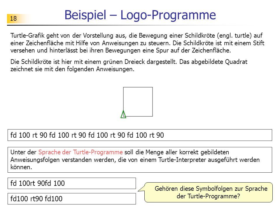 Beispiel – Logo-Programme